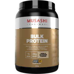Musashi Bulk Mass Gaining Protein 900g