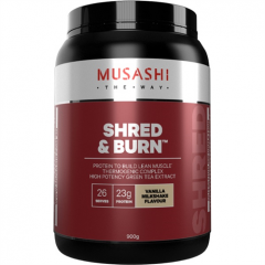 Musashi Shred and Burn Protein 900g