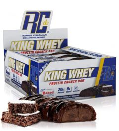 Ronnie Coleman King Whey Protein Crunch Bar Box of 12