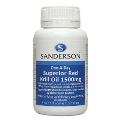 Sanderson Superior Red Krill Oil 1500mg 30caps