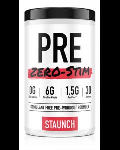 Staunch Nutrition Pre Zero Stim Pre-Workout