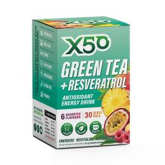 X50 Green Tea + Resveratrol Assorted 30 Serve