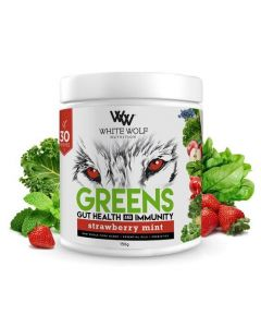 White Wolf Nutrition Greens Gut Health & Immunity 30 Serve