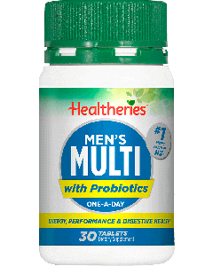 Healtheries Mens Multi + Probiotic 30 Tablets
