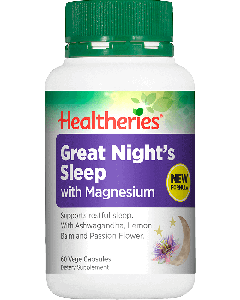 Healtheries Great Night Sleep + Magnesium 60 Cap