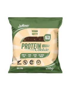 Justines Vegan Nutty Choc Protein Cookies Box of 10 25g