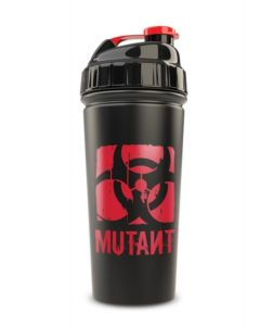 Mutant Red Biohazard Logo Matte Black Stainless Steel Shaker