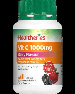 Healtheries Vitamin C 1000 Berry Flavor 30 Tab