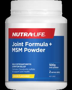 Nutra-Life Joint Formula + MSM Powder 500G