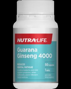 Nutra-Life Guarana Ginseng 4000 50 Cap