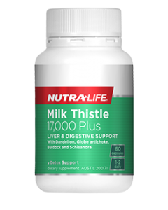 Nutra-Life Milk Thistle 17000 PLUS 60 Cap