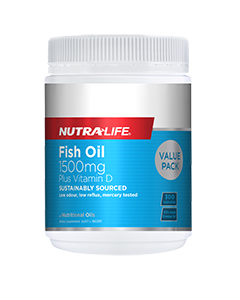 Nutra-Life Fish Oil 1500MG+Vitamin D 300 Cap