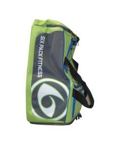 Six Pack Fitness Prodigy 300 Varsity Duffle Bag - Lime/Grey/Blue