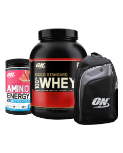 100% Whey 5lb + Amino Energy + Backpack Combo