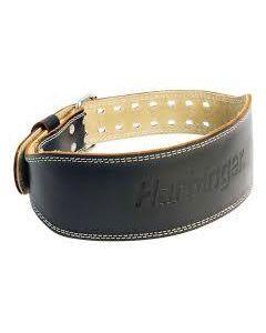 "Harbinger 4"" Padded Leather Lifting Belt Black"