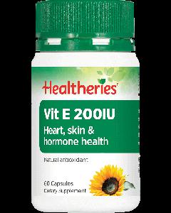 Healtheries Vitamin E 200IU 60 Cap