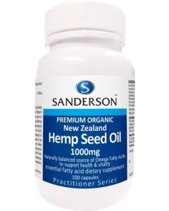 Sanderson Organic NZ Hemp Seed Oil 100 Capsules
