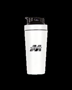 Muscletech Matte White Stainless Steel Shaker