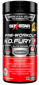 Muscletech Sixstar N.O Fury - Nitrix Oxide 60cap