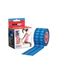 Rocktape Argyle Blue Pattern 5cm x 5mtr Roll