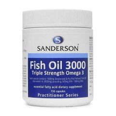 Sanderson Fish Oil 3000 (Easy Swallow & Odourless) 150caps