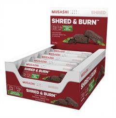 Musashi Shred and Burn Protein Bars Box of 12