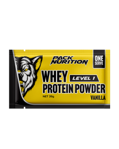 Pack Nutrition Level 1 Whey Protein Powder 1 Serve