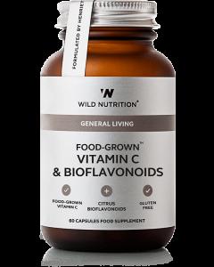 Wild Nutrition Food Grown Vitamin C & Bioflavonoids 60 Cap