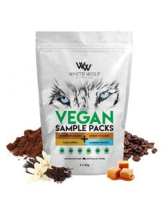 White Wolf Nutrition Vegan All In One Protein Blend Trial Pack 4x 30g