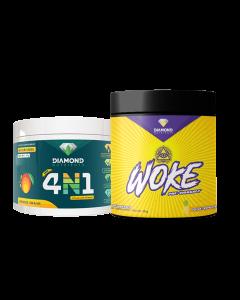 Diamond Nutrients 4n1 Health Booster & Woke Pre-Workout Combo