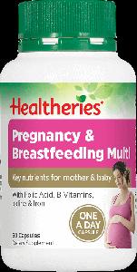 Healtheries Pregnancy & Breastfeeding Multi 60 Cap