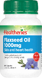 Healtheries Flaxseed Oil 1000mg 100 Cap