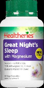 Healtheries Great Night Sleep + Magnesium 60 Cap
