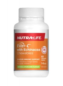 Nutra-Life Ester-C 500mg + Echinacea Chewable 60 Tab