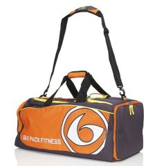 Six Pack Fitness Prodigy 300 Varsity Duffle Bag - Purple/Orange/Yellow