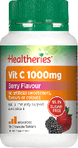 Healtheries Vitamin C 1000 Berry Flavor 30 Tab