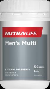 Nutra-Life Mens Multi 120 Cap