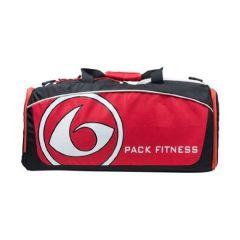 Six Pack Fitness Prodigy 300 Varsity Duffle Bag - Red