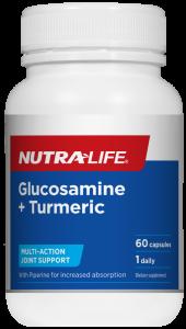 Nutra-Life Glucosamine + Turmeric 60 Cap