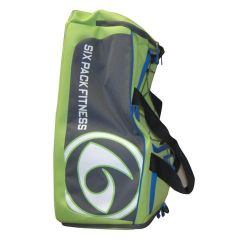 Six Pack Fitness Prodigy 300 Varsity Duffle Bag - Lime/Grey/Blue