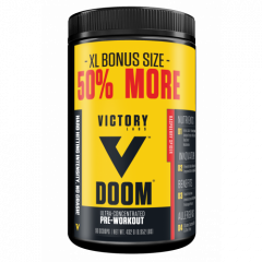 Victory Labs DOOM Pre-Workout 90 Scoop 06/20 Dated