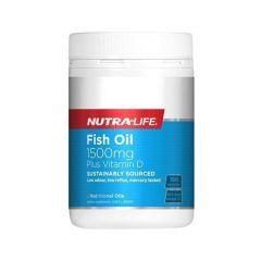Nutra-Life Fish Oil 1500mg + Vitamin D 180 Cap