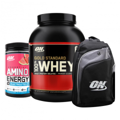 100% Whey 5lb + Amino Energy + Backpack Combo
