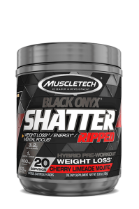 MuscleTech Shatter Ripped Black Onyx Fat Burner/Pre-Workout 07/20 Dated