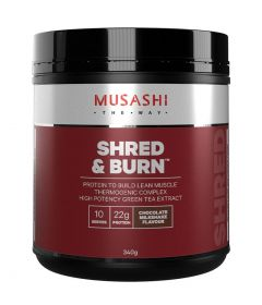 Musashi Shred and Burn Protein 340g