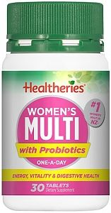 Healtheries Womens Multi + Probiotic 30 Tablets