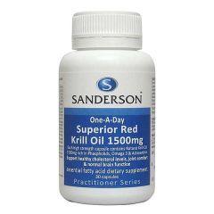 Sanderson Superior Red Krill Oil 1500mg 30caps