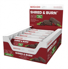 Musashi Shred and Burn Protein Bars Box of 12
