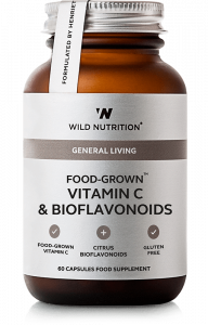 Wild Nutrition Food Grown Vitamin C & Bioflavonoids 60 Cap