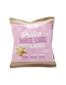 Vitawerx Protein White Chocolate Coated Almonds 60g 10 Pack